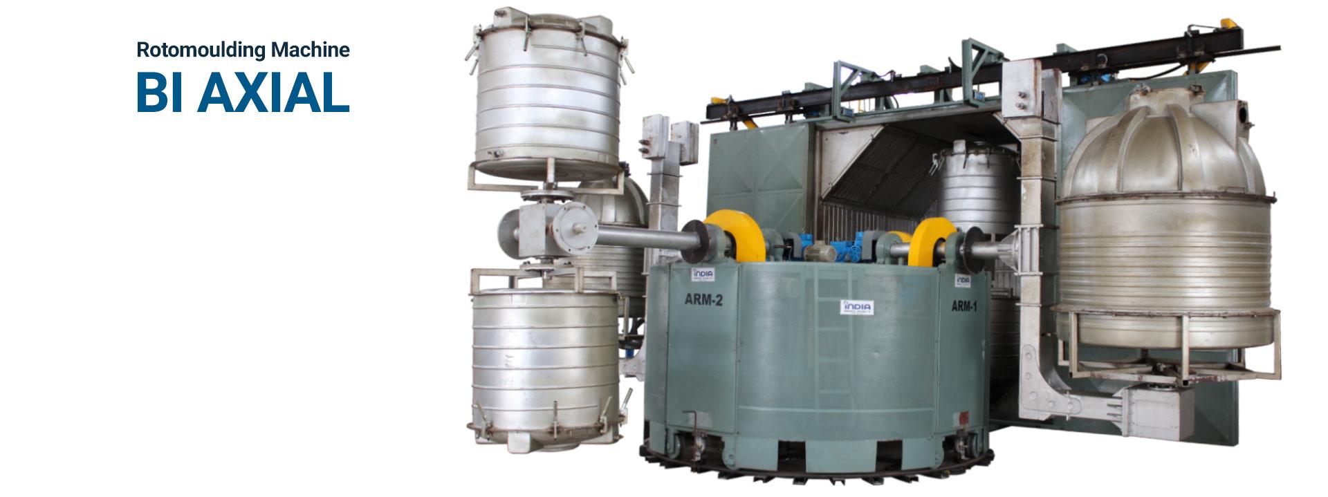 Bi Axial Rotomoulding Machine Manuafcturer & Exporter in IndiaBi Axial Rotomoulding Machine